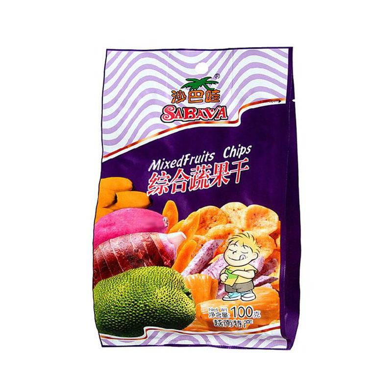 【直邮】【越南】沙巴哇 综合蔬果干 100g