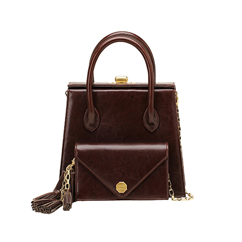 【直邮】SISISM 设计师品牌 多功能DIY女包手提包-格调棕