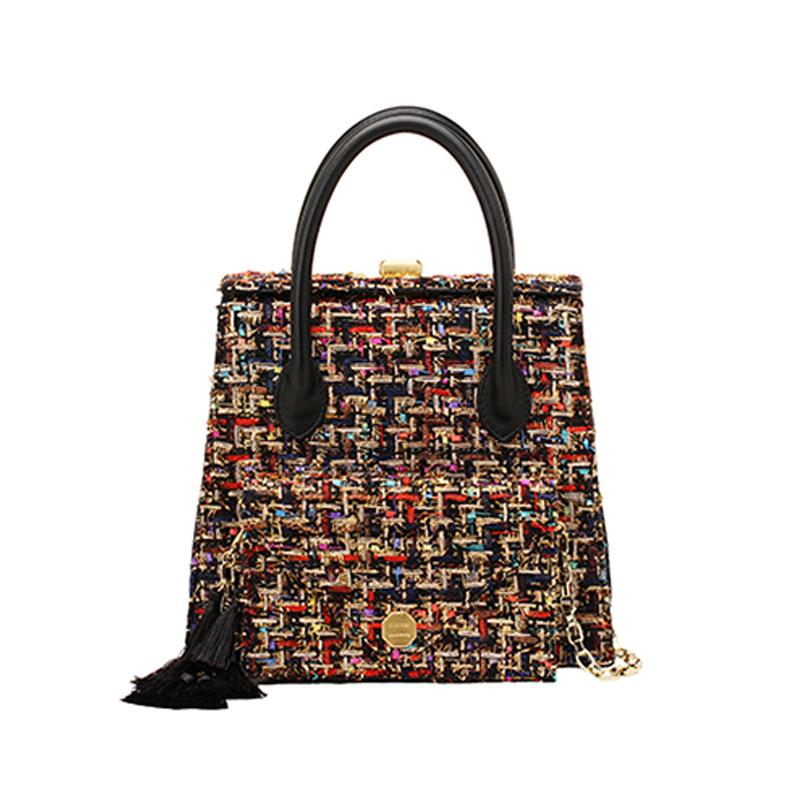【直邮】SISISM 设计师品牌 多功能DIY女包手提包-小香风