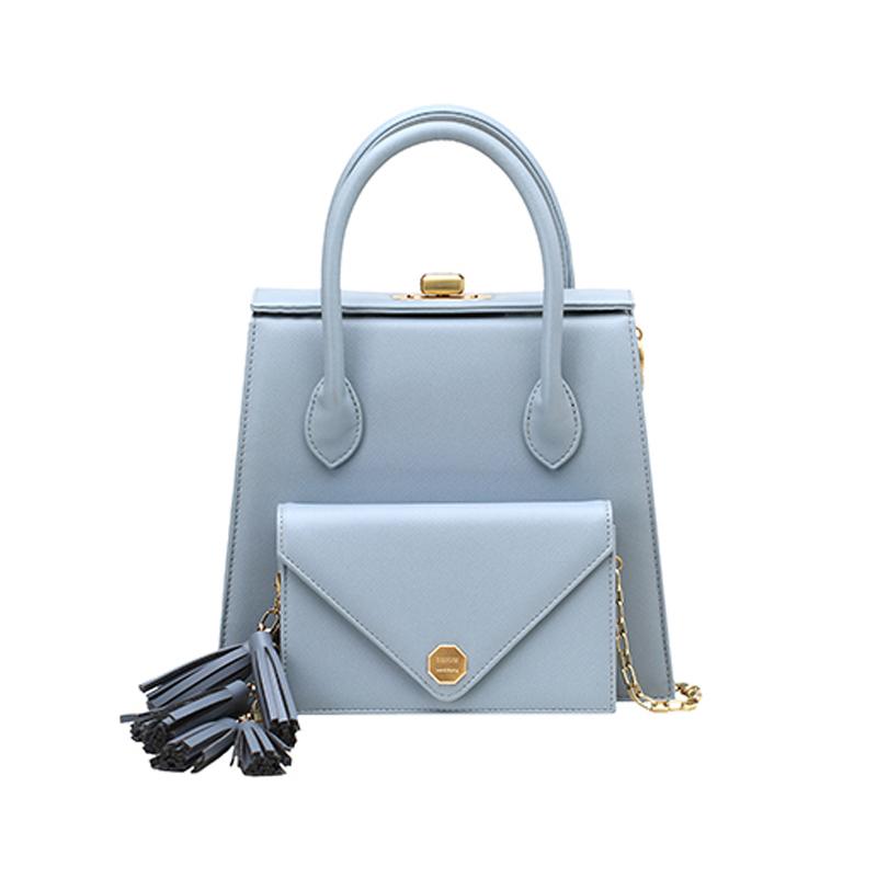 【直邮】SISISM 设计师品牌 多功能DIY女包手提包-雾霾蓝