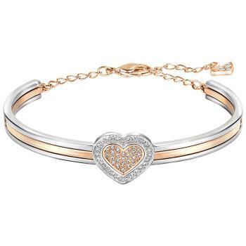 SWAROVSKI/施华洛世奇 Cupid玫瑰金色心形水晶手镯手链